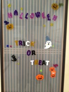 ハロウィン教室ドア